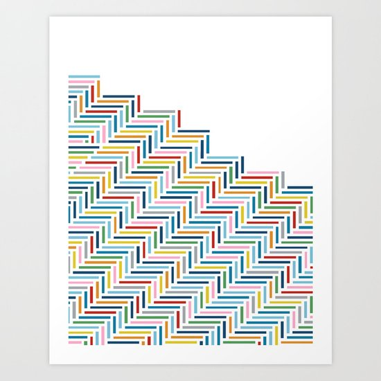 Herringbone Color Part Art Print