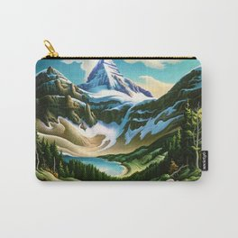 The Trail Riders Mountain Landscape by Thomas Hart Benton Carry-All Pouch