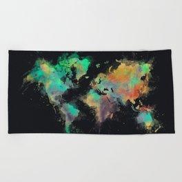 world map 107 #worldmap #map Beach Towel