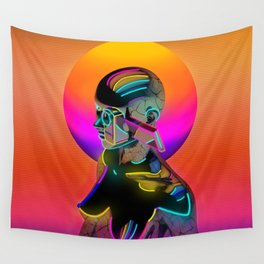 Android with a movie camera Wall Tapestry