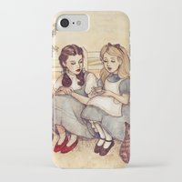 dorothy iPhone & iPod Cases featuring Dorothy and Alice by Helen Green