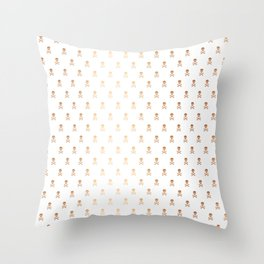 SKULLS PATTERN - ROSE GOLD - LARGE Throw Pillow