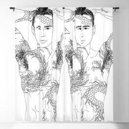 Dragon Tattoo Guy Blackout Curtain