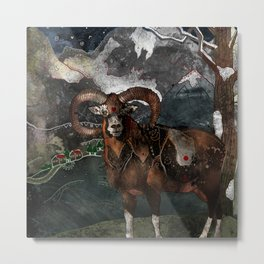 Aries the Ram Metal Print