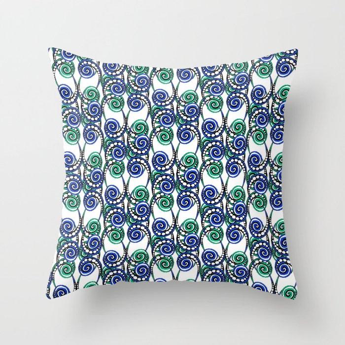 Swirly Pattern Throw Pillow