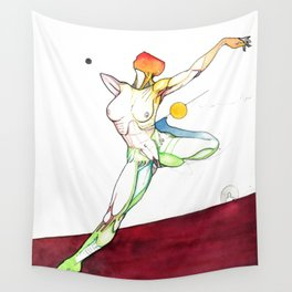 The Russian, female surrealist ballerina, NYC artist Wall Tapestry