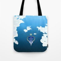 kingdom hearts Tote Bags featuring Kingdom Hearts by KiwisCorner
