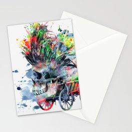 COLORFUL SKULL Stationery Cards