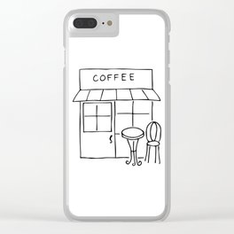 Little Coffee House // Cafe Sketch Clear iPhone Case