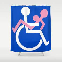 Fuckin' Handicapped Shower Curtain