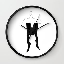 Tights — modern artprints, abstract illustrations, lowpoly designs Wall Clock