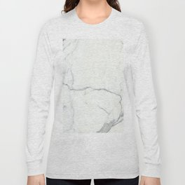 Carrara Marble Long Sleeve T-shirt