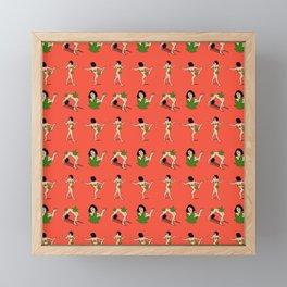 Art model weed Censorship Framed Mini Art Print