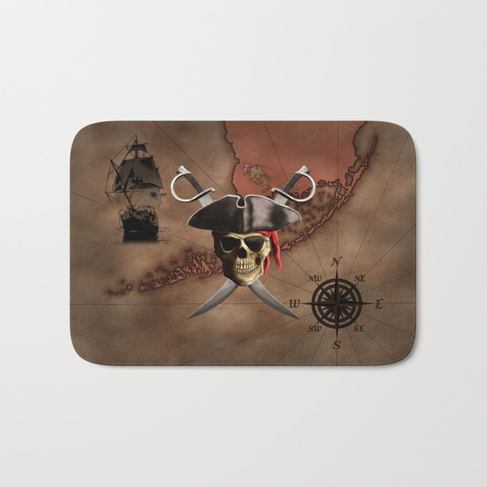 Pirate Map Bath Mat