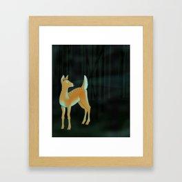 forest fawn Framed Art Print