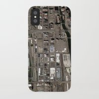 chicago map iPhone & iPod Cases featuring Chicago  by Mark John Grant