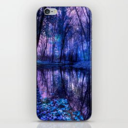 Enchanted Forest Lake Purple Blue iPhone Skin