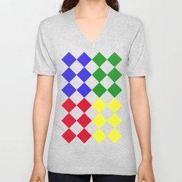 Complementary Triangles Unisex V-Neck