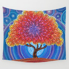 Autumn Blossoms Wall Tapestry
