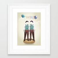 twins Framed Art Prints featuring TWINS by Nazario Graziano
