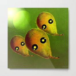 The arrival of pears aliens Metal Print