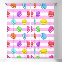 Colorful macaron Blackout Curtain