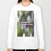sarcasm Long Sleeve T-shirts featuring Bokeh Sarcasm by Casey J. Newman