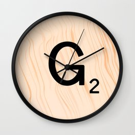 Scrabble Letter G - Scrabble Art and Apparel Wall Clock