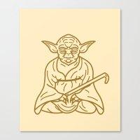 yoda Canvas Prints featuring Yoda by Roland Banrevi
