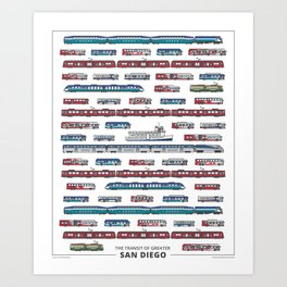 The Transit of Greater San Diego Art Print