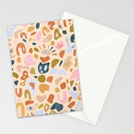 Abstract Paper Cuts Stationery Cards