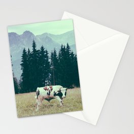 Cows and Mountains Stationery Cards