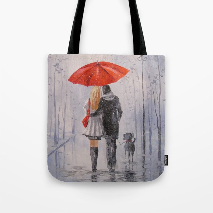 After the rain in the Park Tote Bag