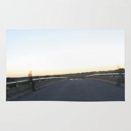 Bridge across two planes Rug
