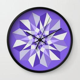 Diamond Purple Mandala Wall Clock