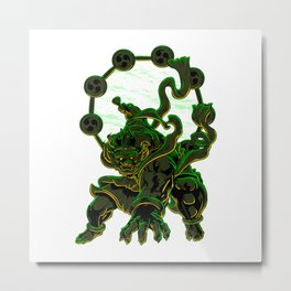 Thunder God Raijin Metal Print