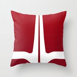 Striped Tomato Throw Pillow
