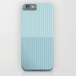 Color Block Lines VIII Blue iPhone Case