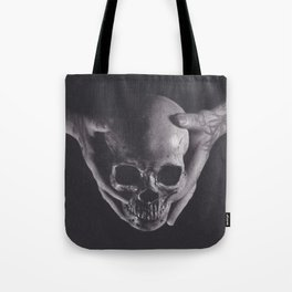 Death in His Hands Tote Bag