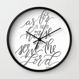 As For Me And My House Wall Clock