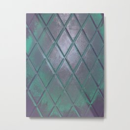 photography manipulated with geometric rhombuses in various colors Metal Print