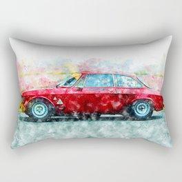 Alfa Giulia Racing Rectangular Pillow