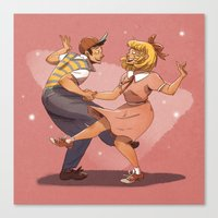 earthbound Canvas Prints featuring Do The Earthbound Shuffle! by neomonki