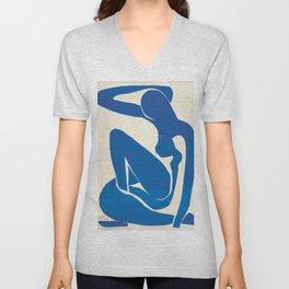 Blue Nude #1- Henri Matisse Unisex V-Neck