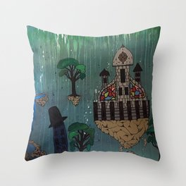 My Floating City Throw Pillow
