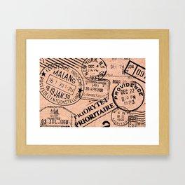 Passport Kraft Framed Art Print
