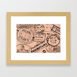 Passport Kraft Framed Art Print