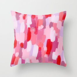 Abstract Painting Pin Pattern Acrylic - Meet Me In The Red Woods Throw Pillow
