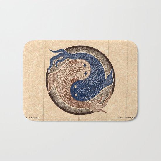 shuiwudáo yin yang mandala Bath Mat