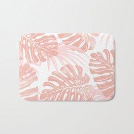 Blush Tropical Leaves Bath Mat